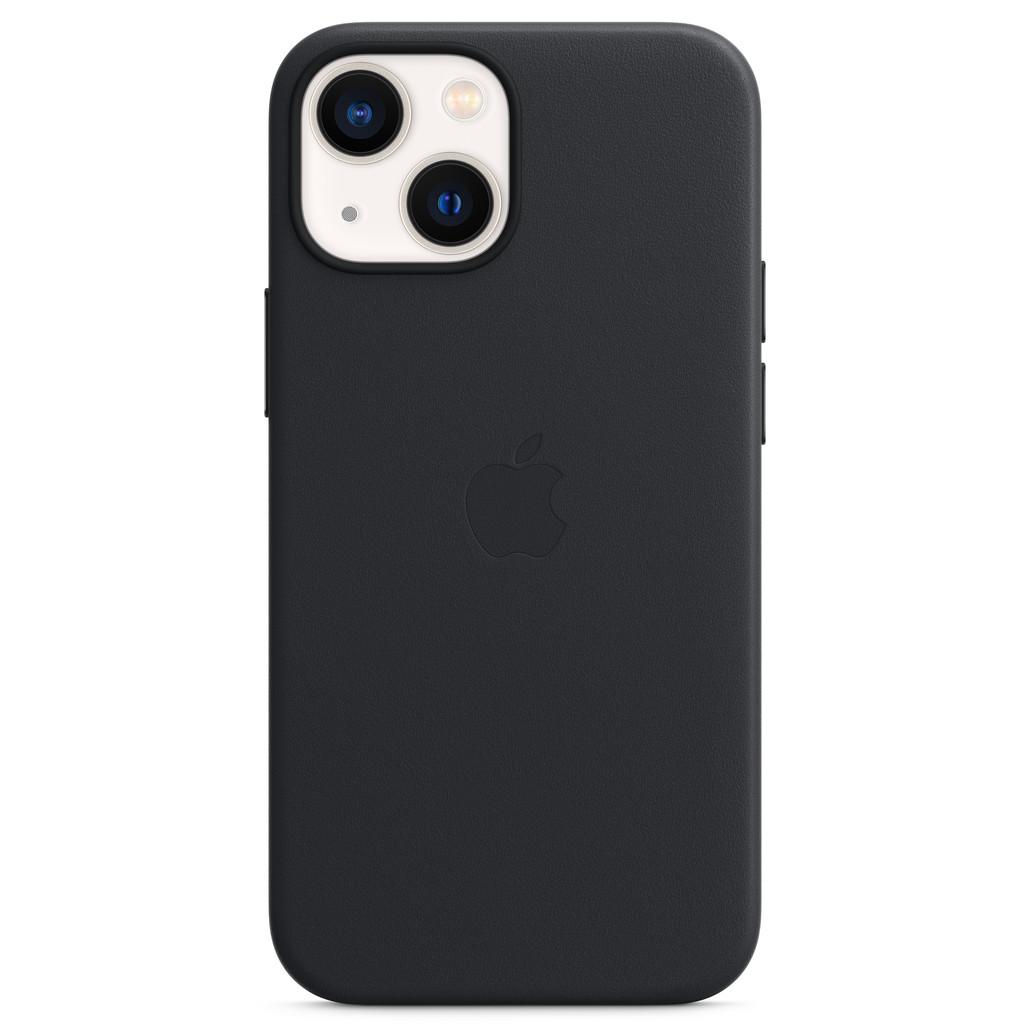 Apple iPhone 13 mini Back Cover met MagSafe Leer Middernacht