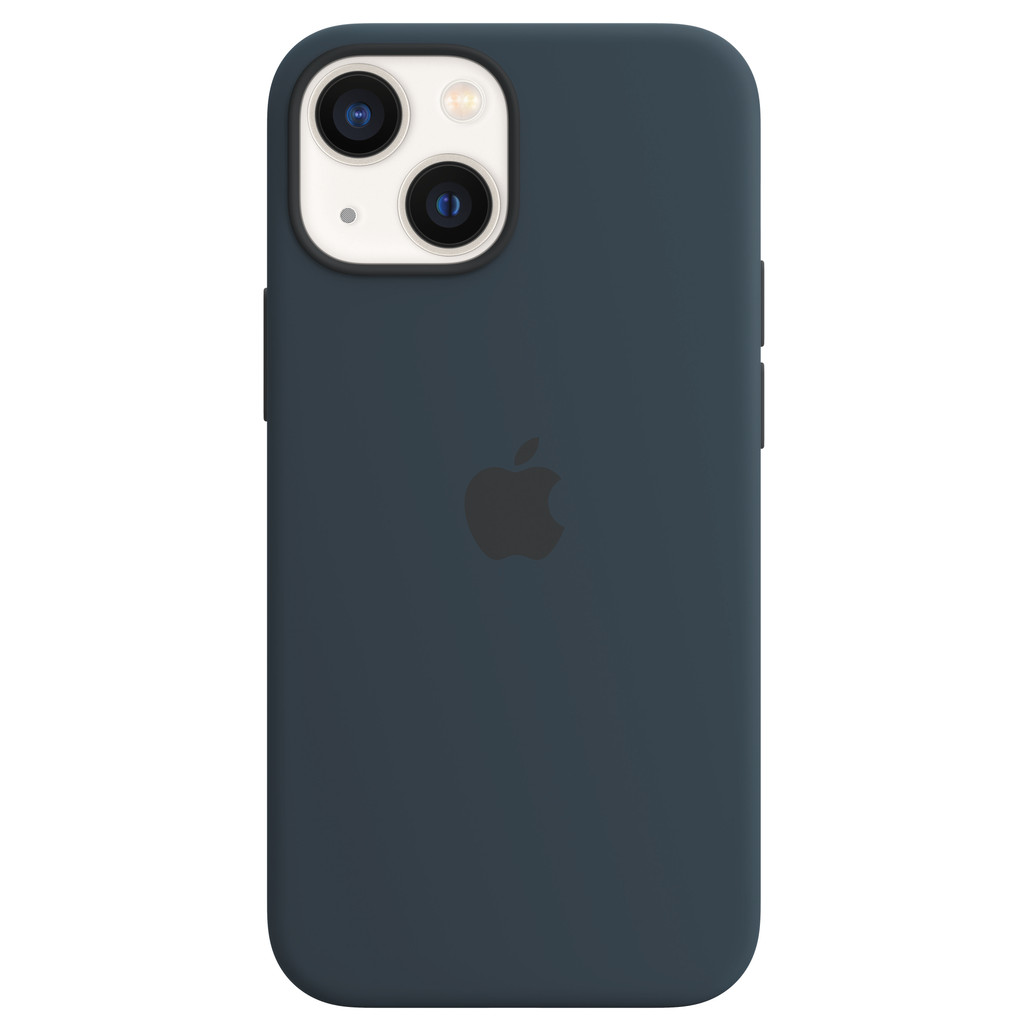 Apple iPhone 13 mini Back Cover met MagSafe Abyss-blauw