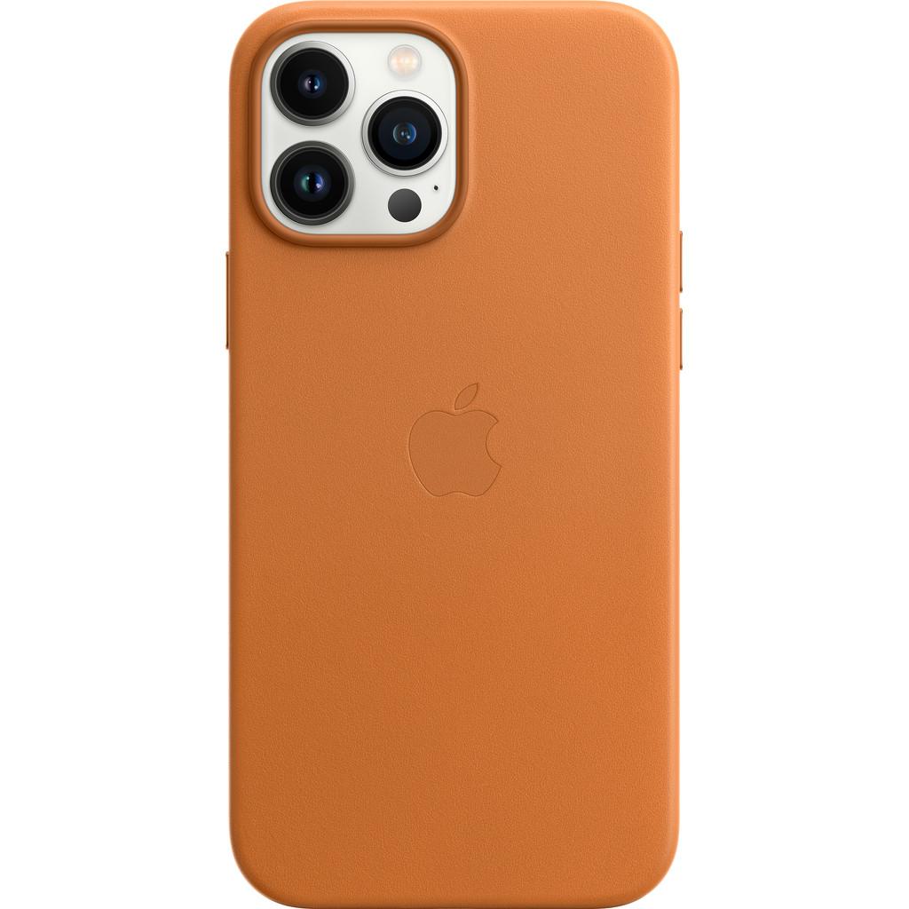 Apple iPhone 13 Pro Max Back Cover met MagSafe Leer Goudbruin