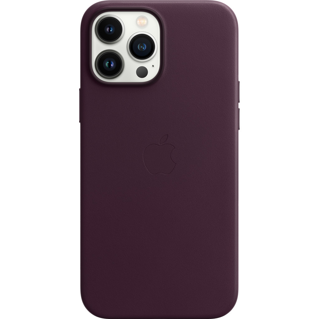 Apple iPhone 13 Pro Max Back Cover met MagSafe Leer Donkere kers
