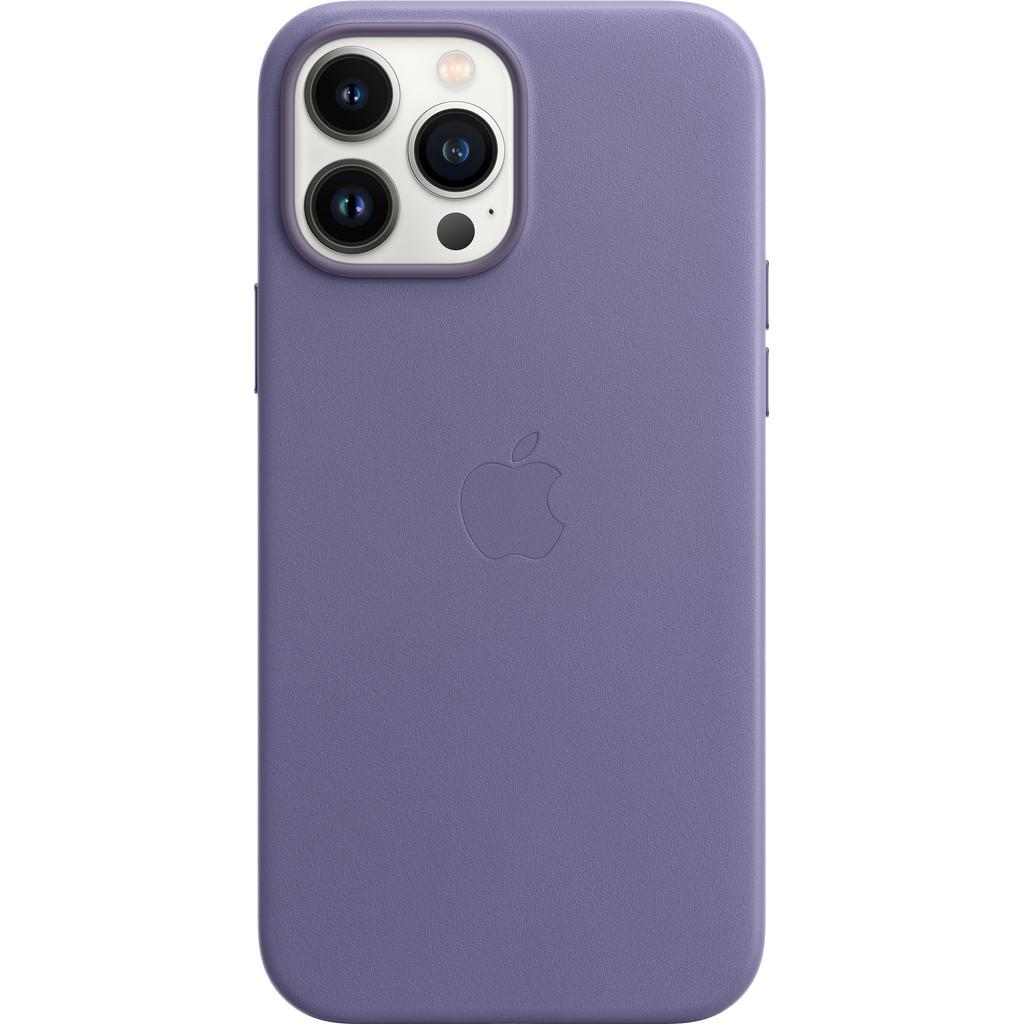 Apple iPhone 13 Pro Max Back Cover met MagSafe Leer Blauweregen