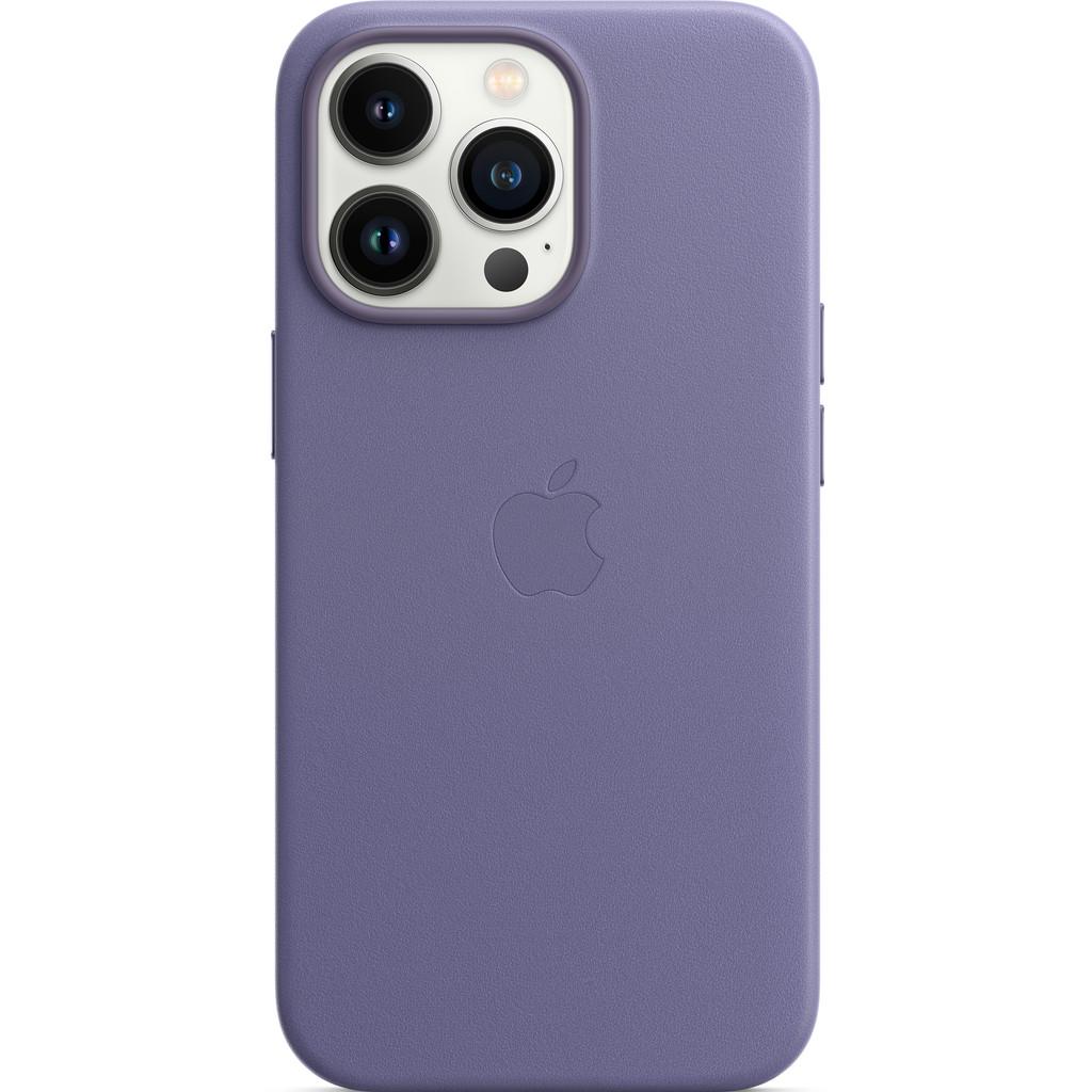 Apple iPhone 13 Pro Back Cover met MagSafe Leer Blauweregen