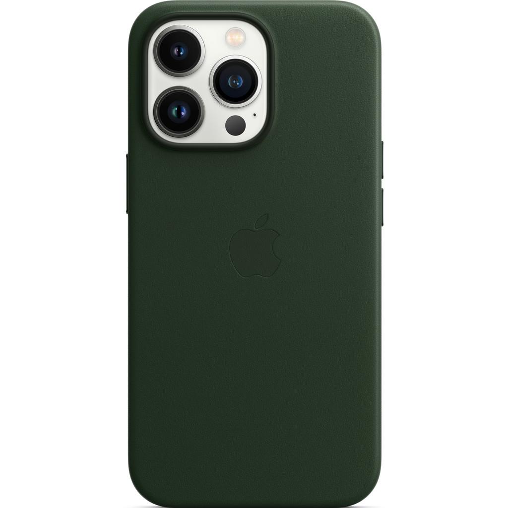 Apple iPhone 13 Pro Back Cover met MagSafe Leer Sequoia-groen