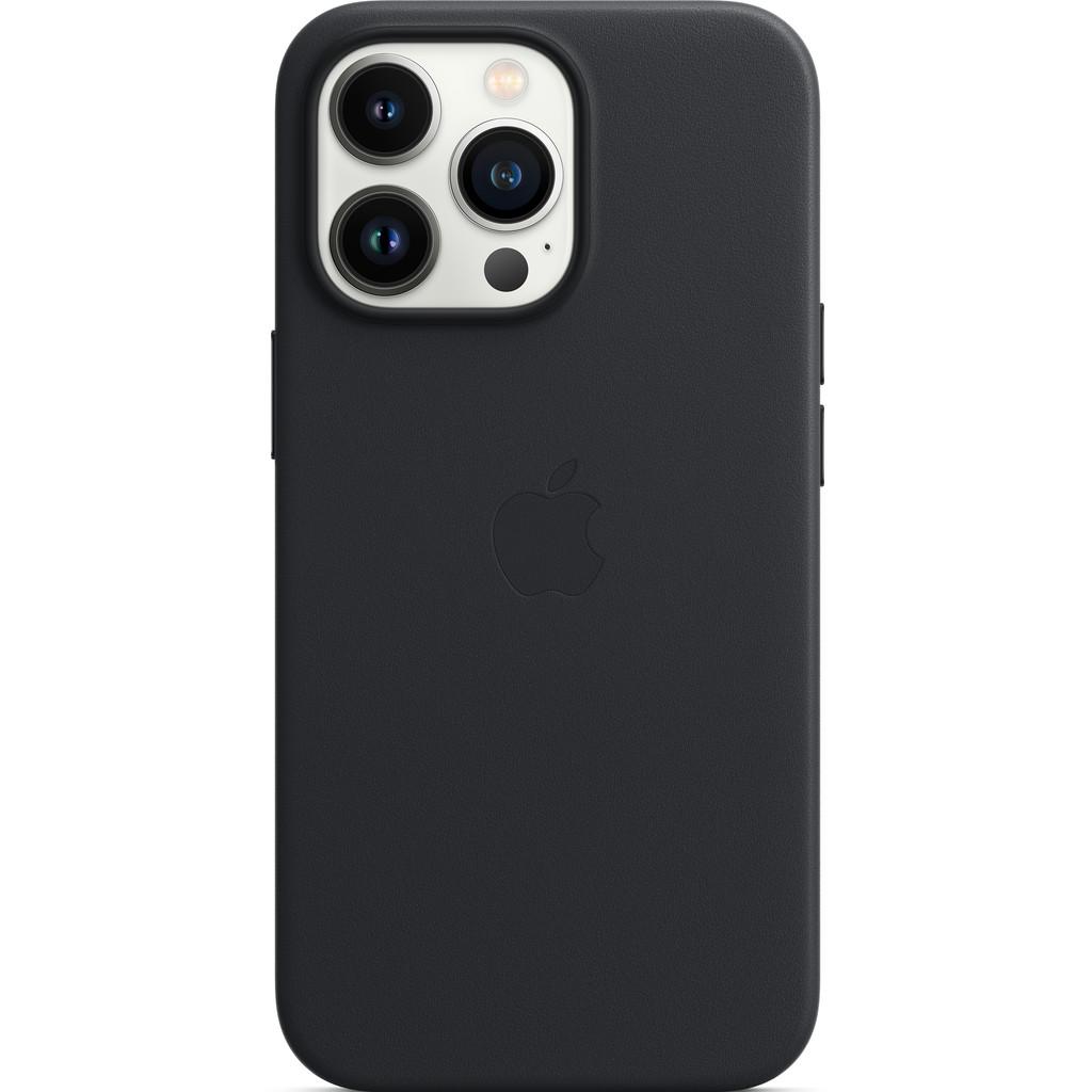 Apple iPhone 13 Pro Back Cover met MagSafe Leer Middernacht