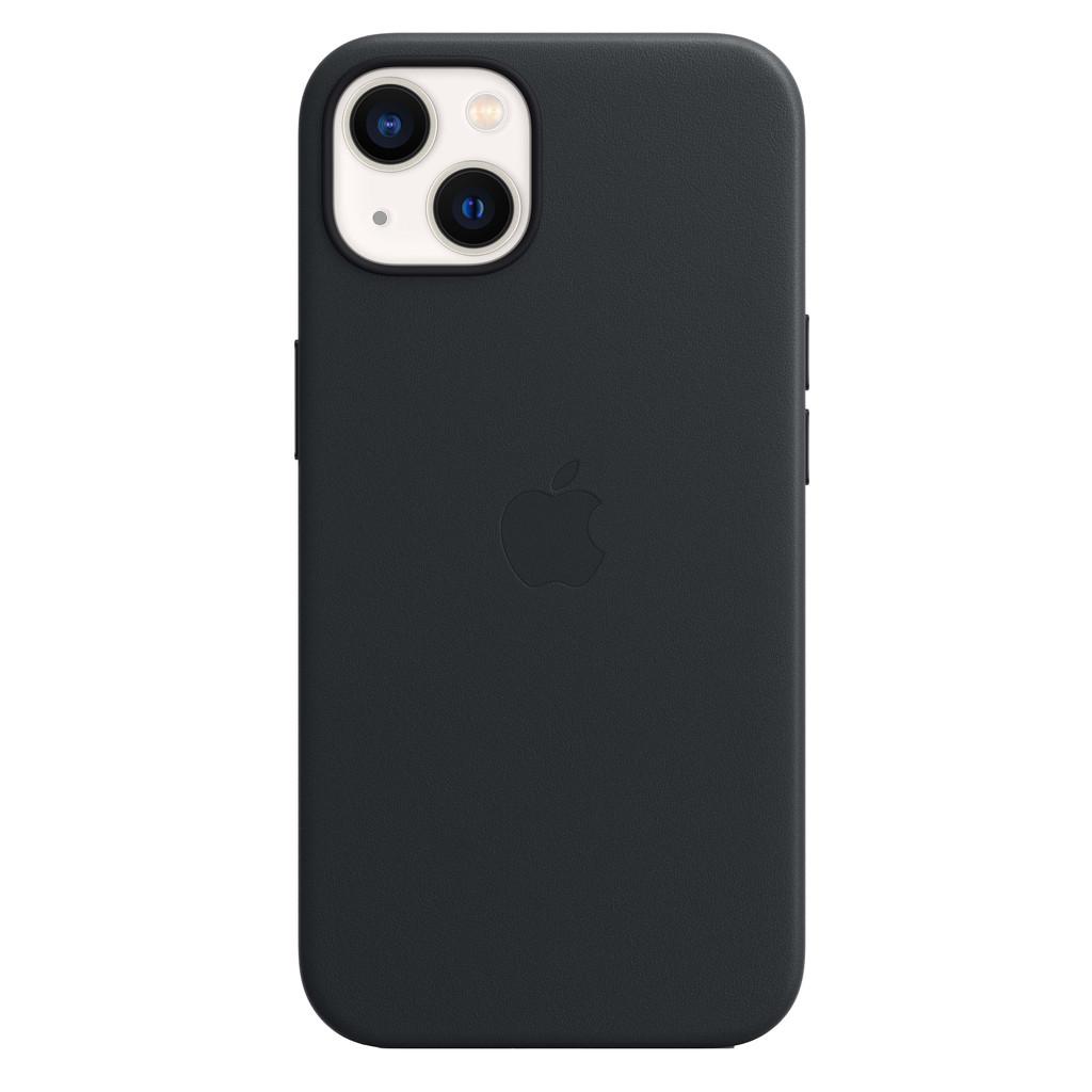 Apple iPhone 13 Back Cover met MagSafe Leer Middernacht