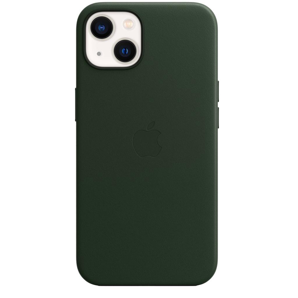 Apple iPhone 13 Back Cover met MagSafe Leer Sequoia-groen