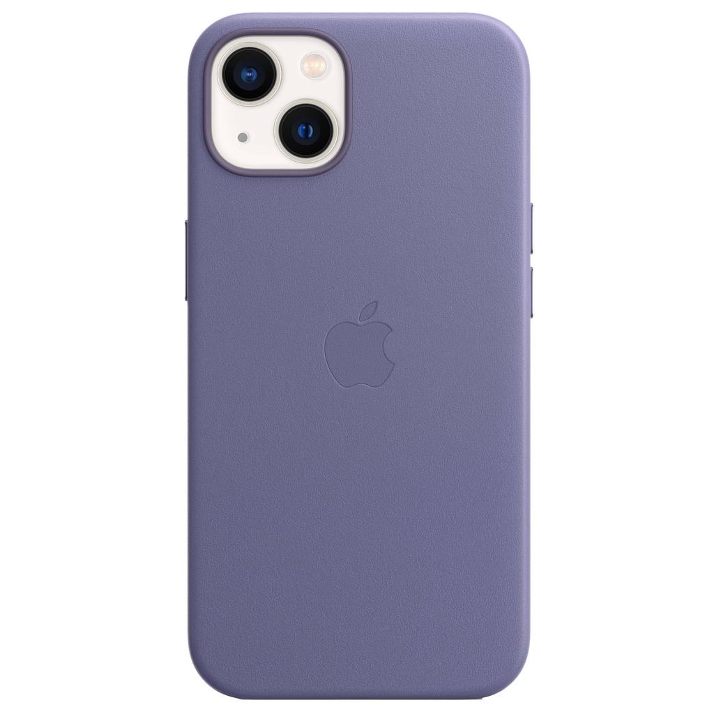 Apple iPhone 13 Back Cover met MagSafe Leer Blauweregen