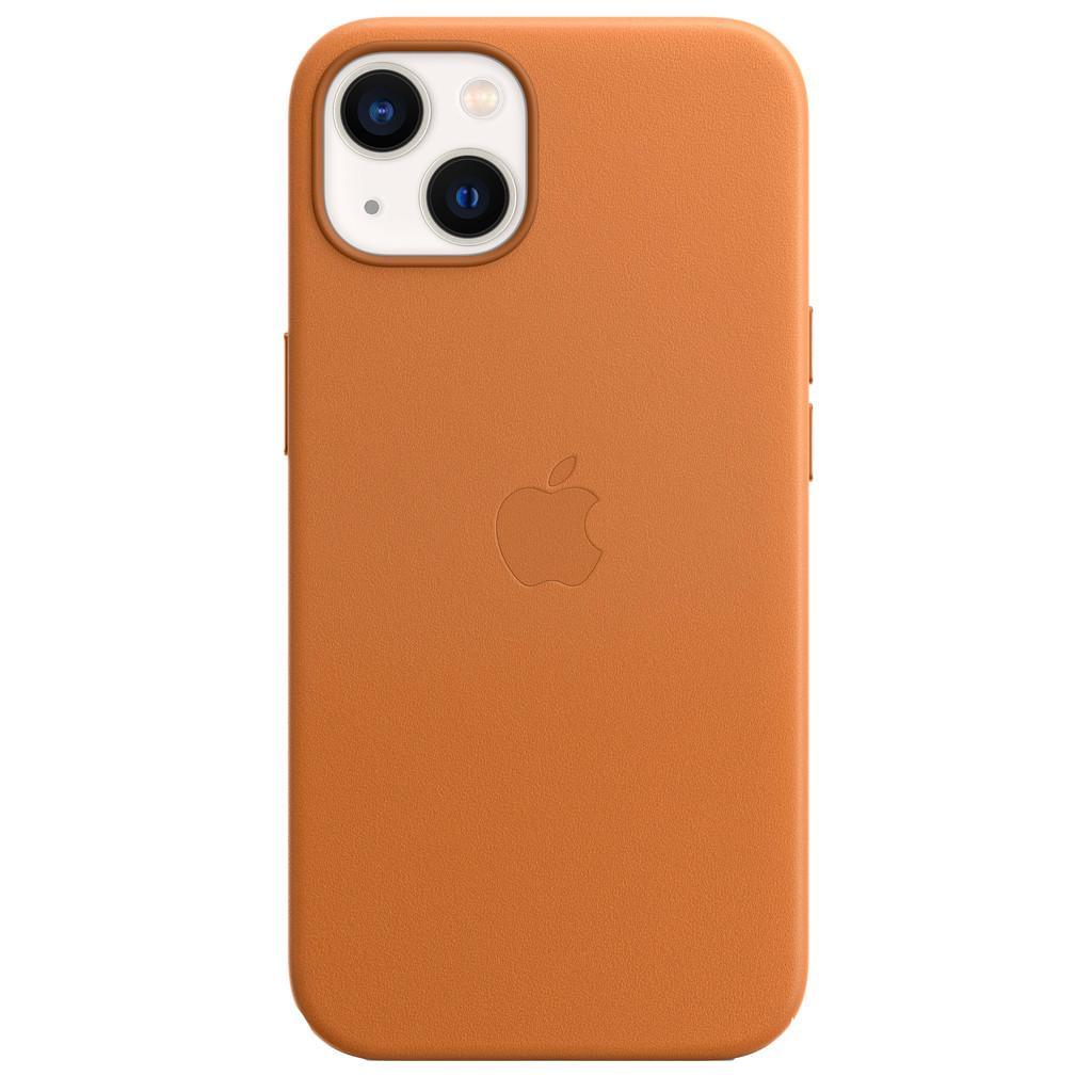 Apple iPhone 13 Back Cover met MagSafe Leer Goudbruin