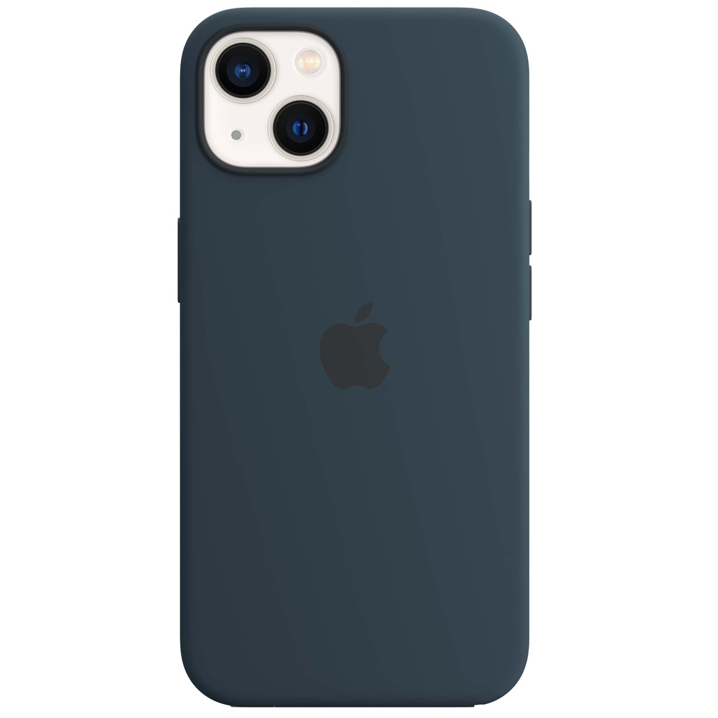 Apple iPhone 13 Back Cover met MagSafe Abyss-blauw