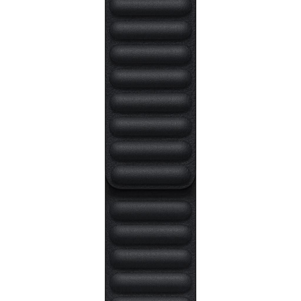 Apple Watch 42/44/45 mm Leather Link Horlogeband Middernacht – Small/Medium