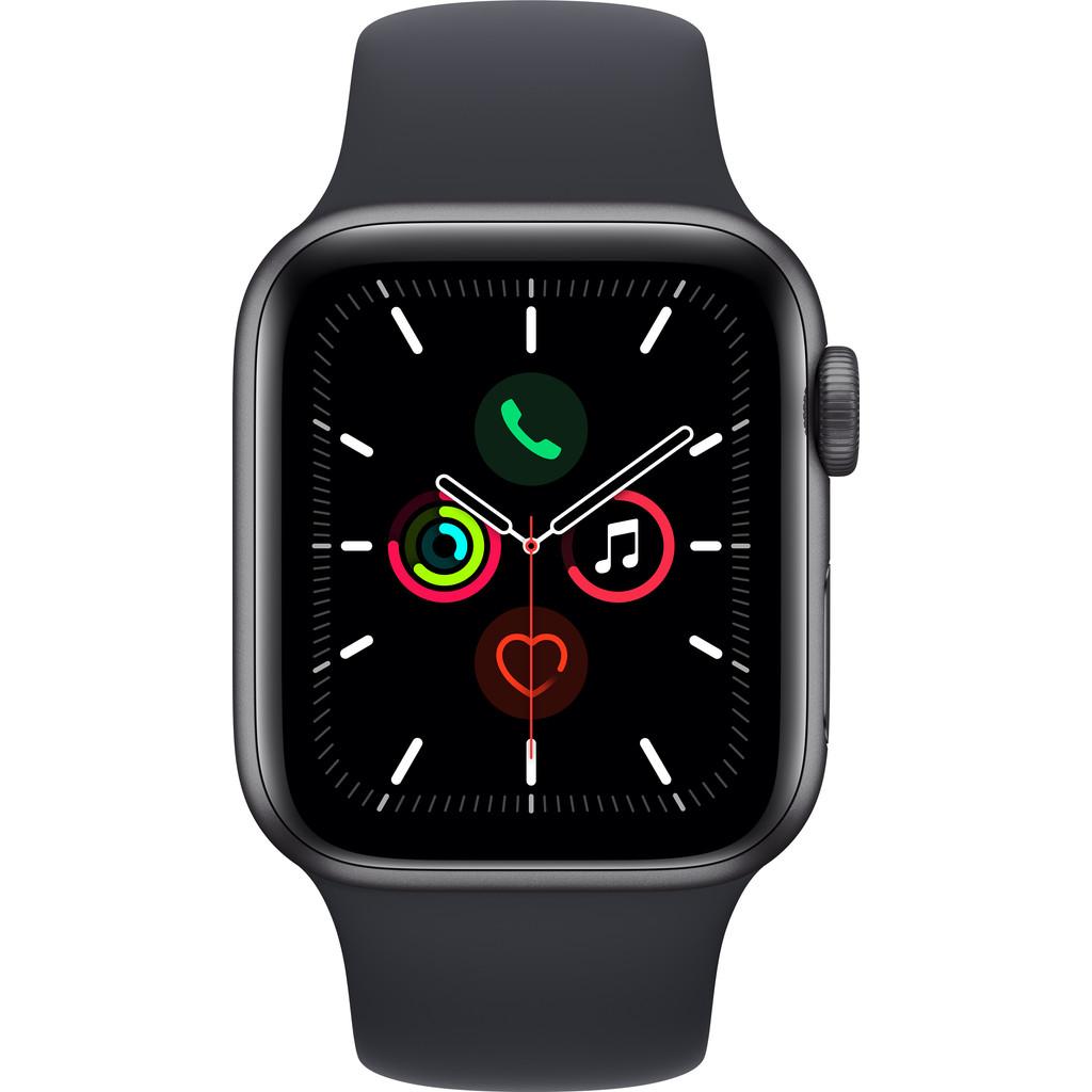 Apple Watch SE 40mm Space Gray Aluminium Nachtblauwe Sportband