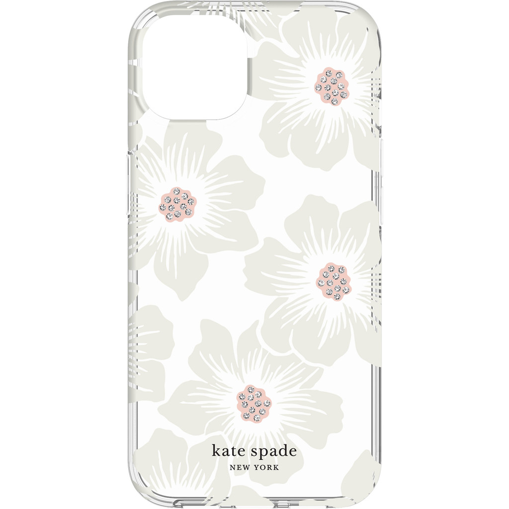Kate Spade Hollyhock Floral Protective Hardshell iPhone 13 Back Cover