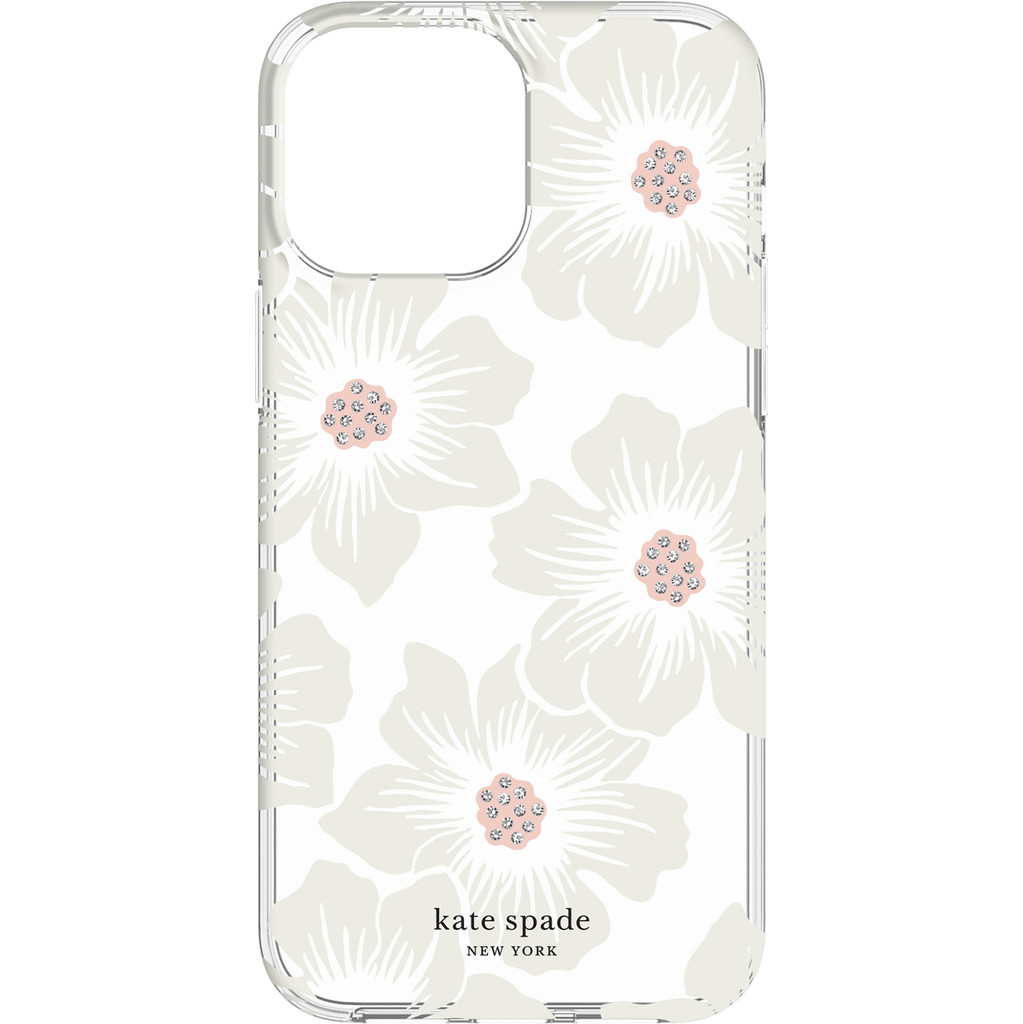 Kate Spade Hollyhock Floral Protective Hardshell iPhone 13 Pro Max Back Cover