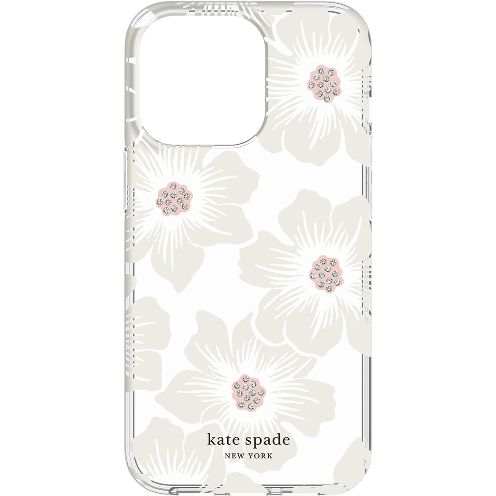 Kate Spade Hollyhock Floral Protective Hardshell iPhone 13 Pro Back Cover
