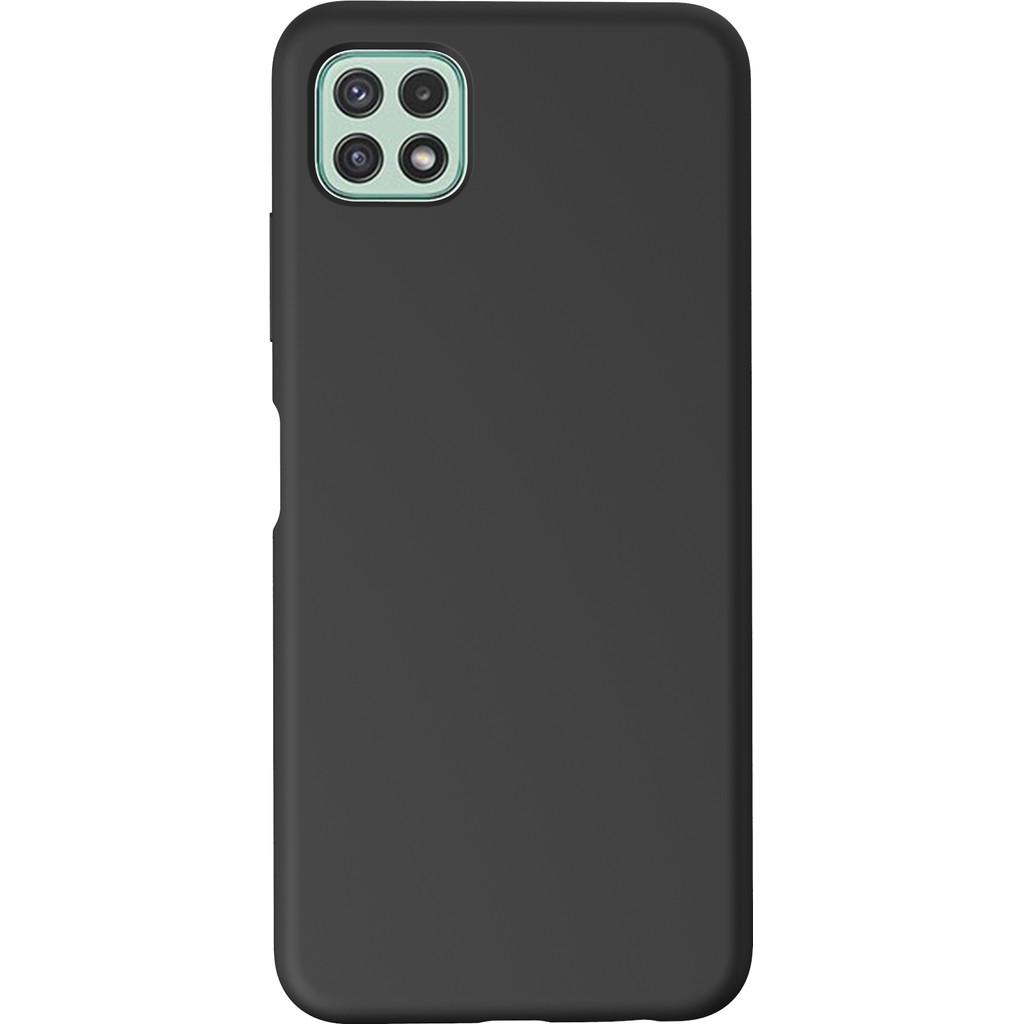 Azuri Samsung Galaxy A22 Back Cover Siliconen Zwart