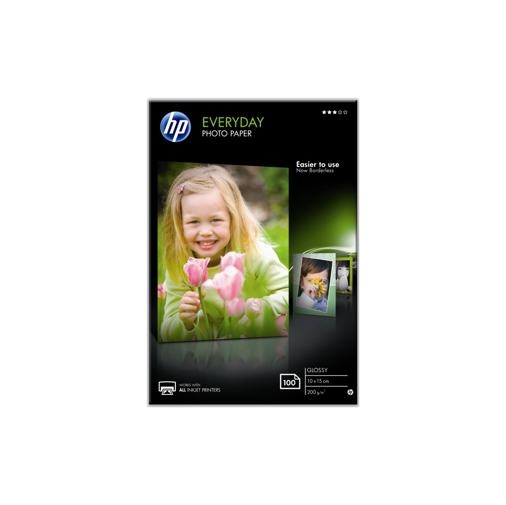 HP Everyday Glossy Fotopapier 100 Vel (10 x 15) in Meemortel