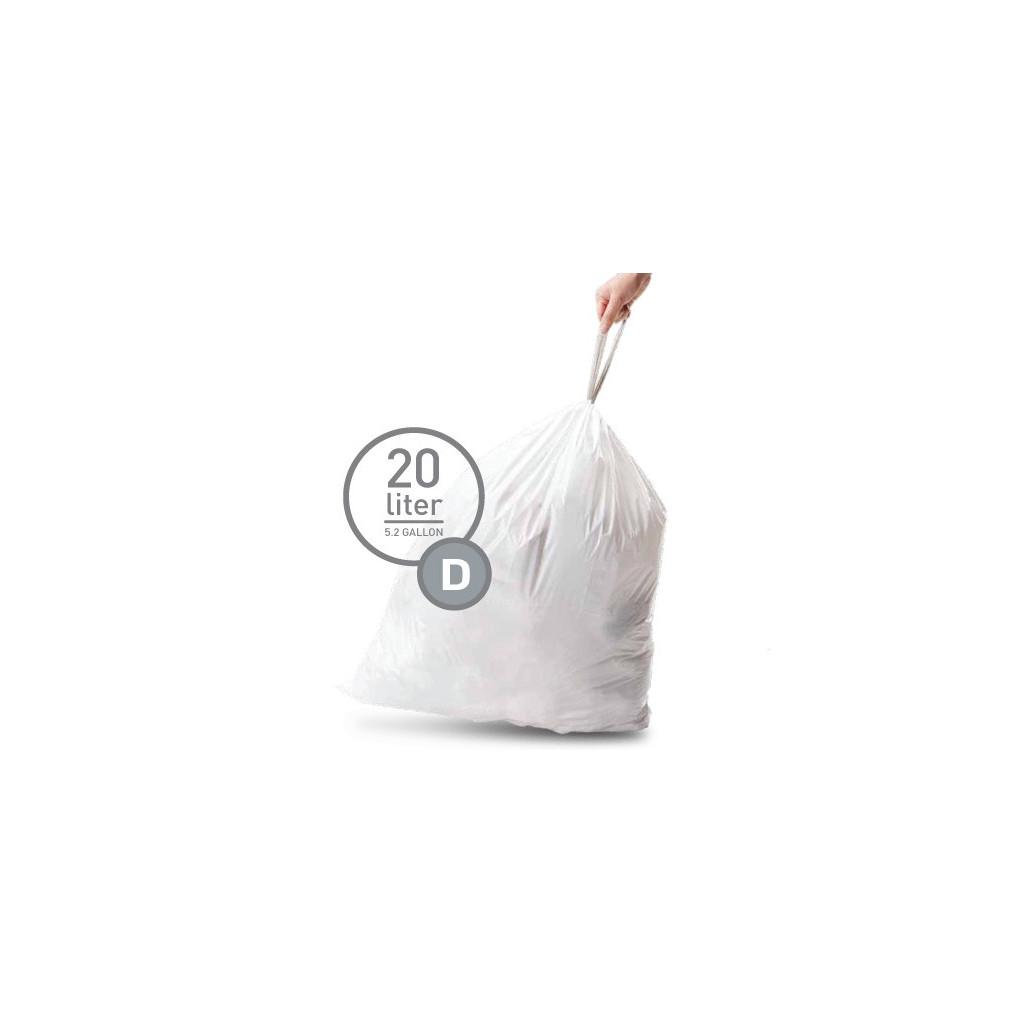 Simplehuman Afvalzak Code D - 20 Liter (20 stuks) in Burghsluis