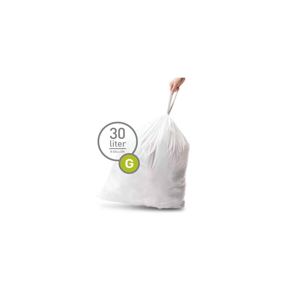 Simplehuman Afvalzak Code G Pocket Liners 30 Liter (60 stuks) in Lageweg