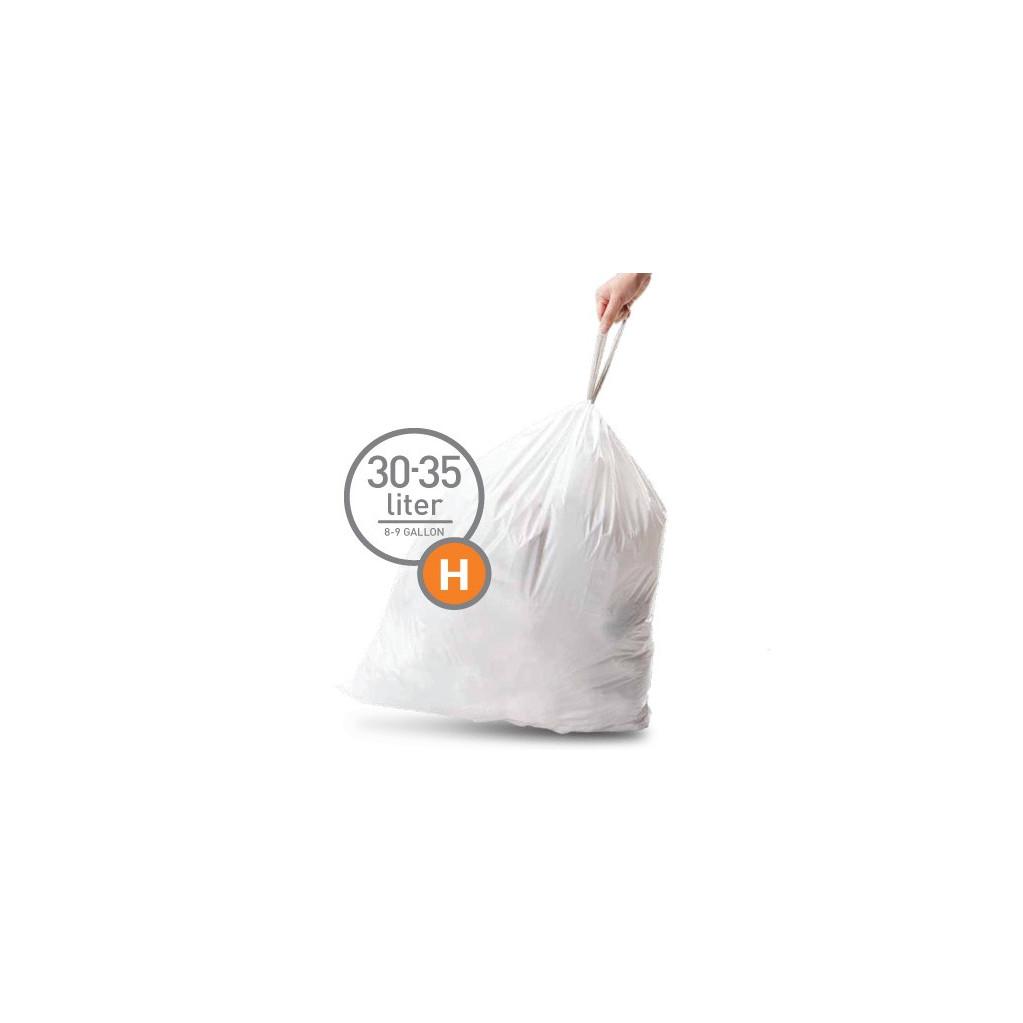 Simplehuman Afvalzak Code H - 30 Liter (20 stuks) in Veele