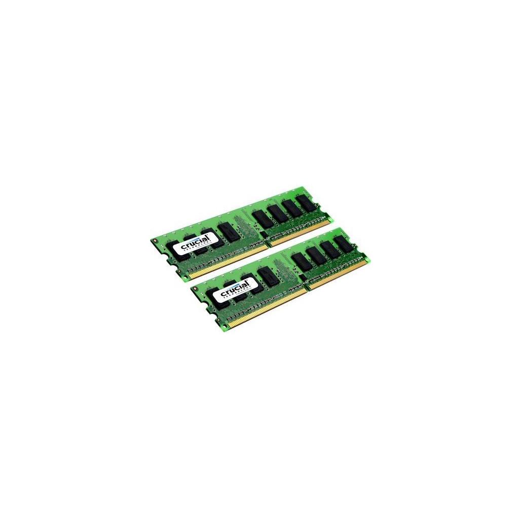 Afbeelding van Crucial 4GB DDR2 DIMM 800 MHz (2x2GB) intern geheugen