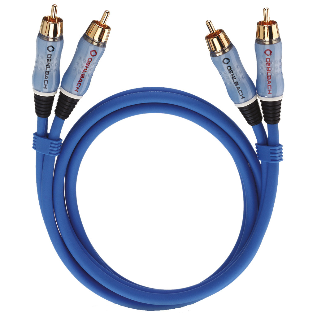Oehlbach BEAT! Stereo RCA Kabel 1 meter blauw