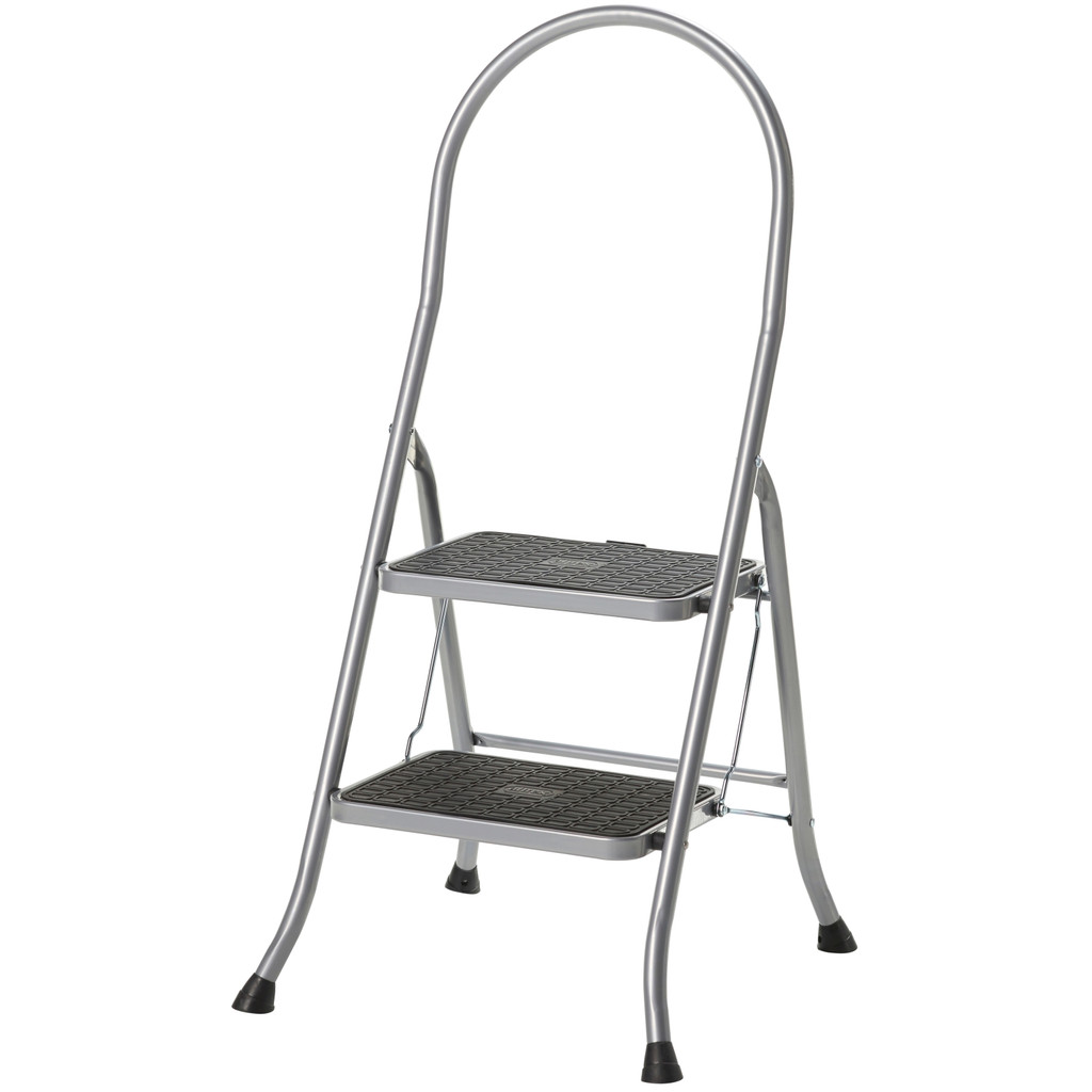 Afbeelding van Altrex Cromato hoge beugel 2 treden ladder