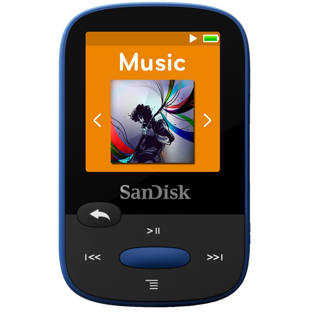 Sandisk Sansa Clip Sports 8GB blauw in Bruggerhuizen