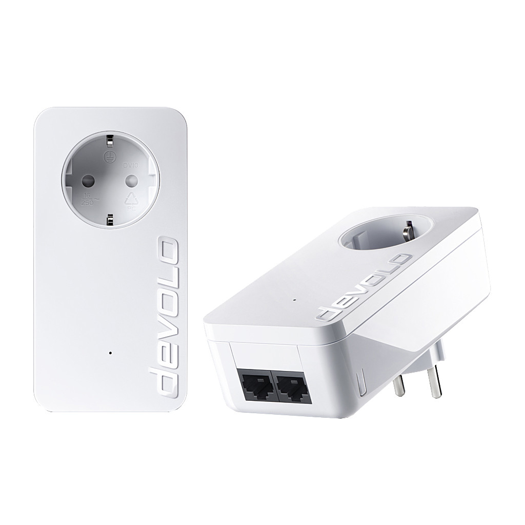 Afbeelding van Devolo dLAN 550 Duo+ Geen WiFi 500 Mbps 2 adapters powerline adapter