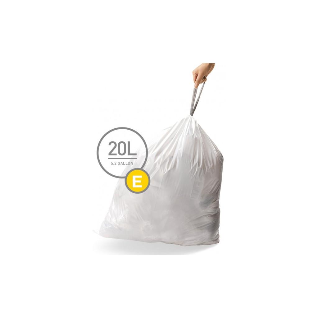Simplehuman Afvalzak Code E Pocket Liners 20 Liter (60 stuks) in Wiekevorst