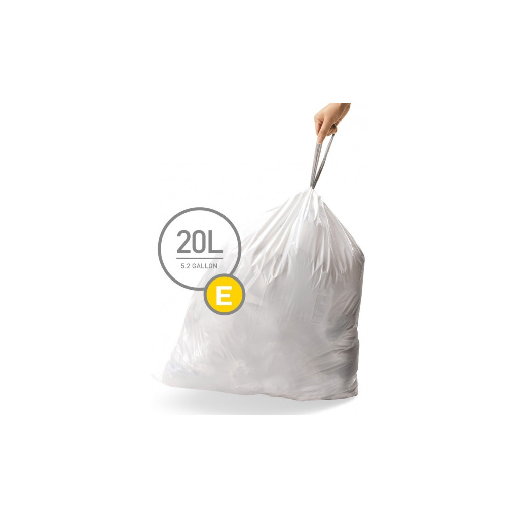 Simplehuman Afvalzak Code E Pocket Liners 20 Liter (60 stuks) in Eibergen