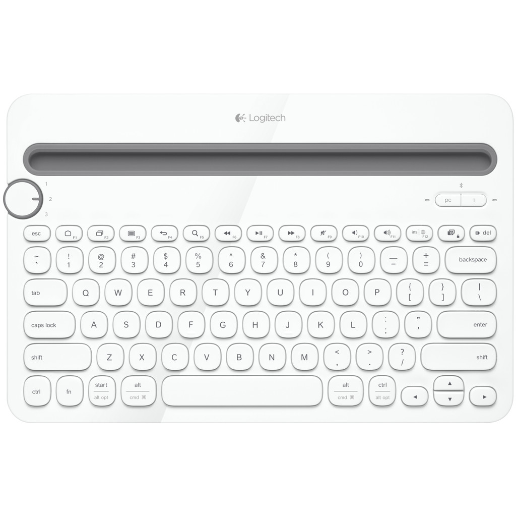 Logitech Multi Device Toetsenbord K480 Wit QWERTY in de Woude