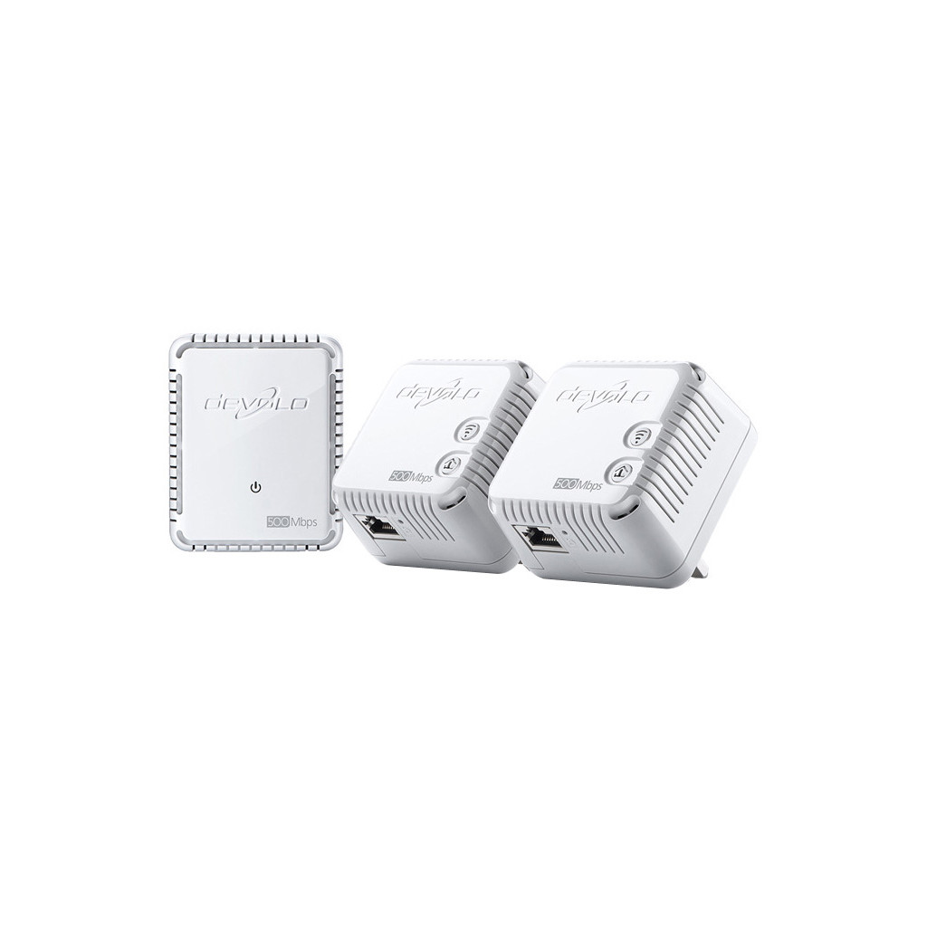 Afbeelding van Devolo dLAN 500 WiFi Mbps 3 adapters powerline adapter