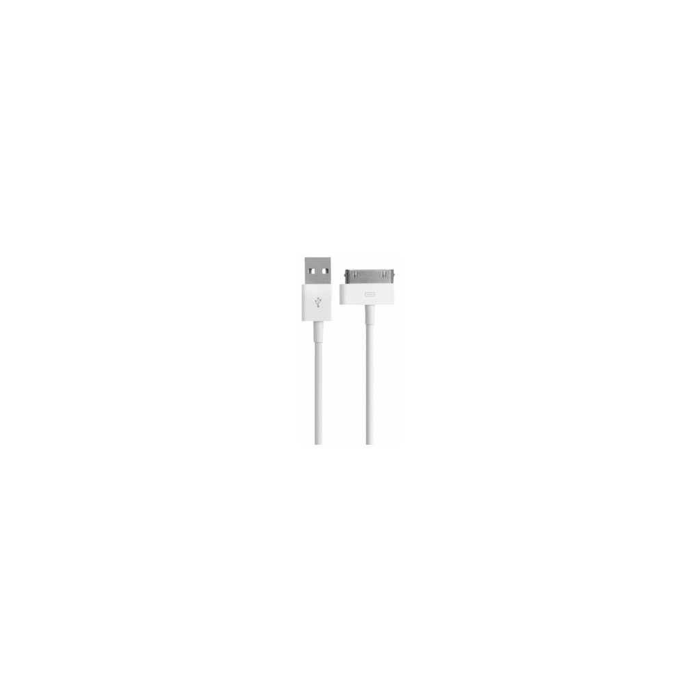 Mobiparts 30 Pin USB Kabel 1m Wit in De Wopereis
