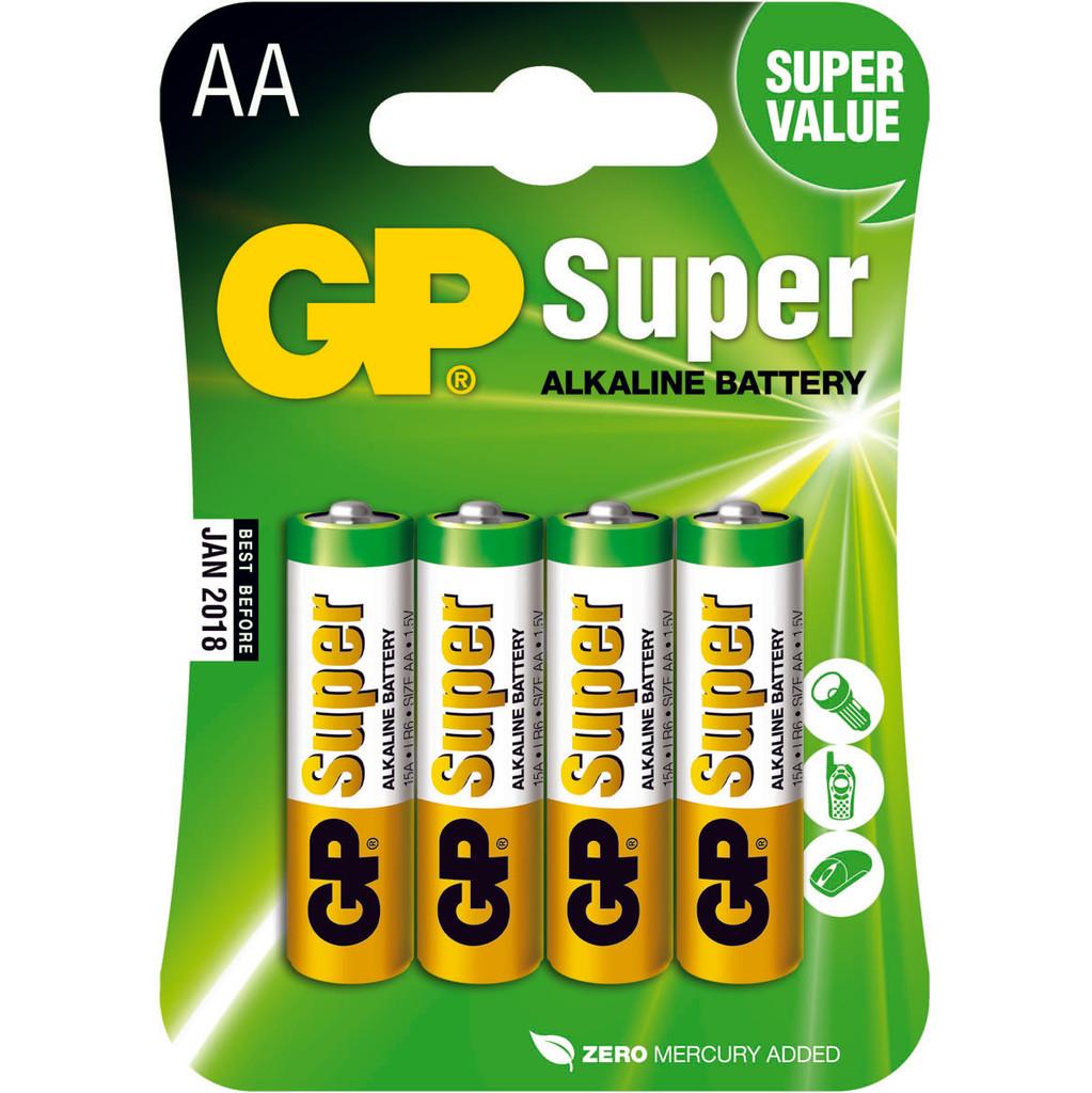 GP Super Alkaline AA Mignon penlite, blister 4 in Walem