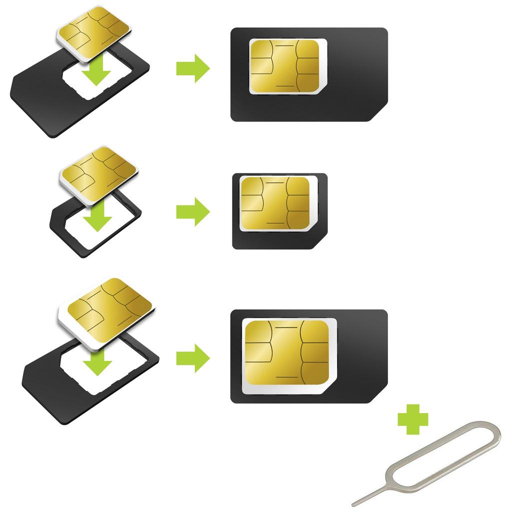 Muvit Universele Sim Adapter Micro / Nano Sim in Molenschot