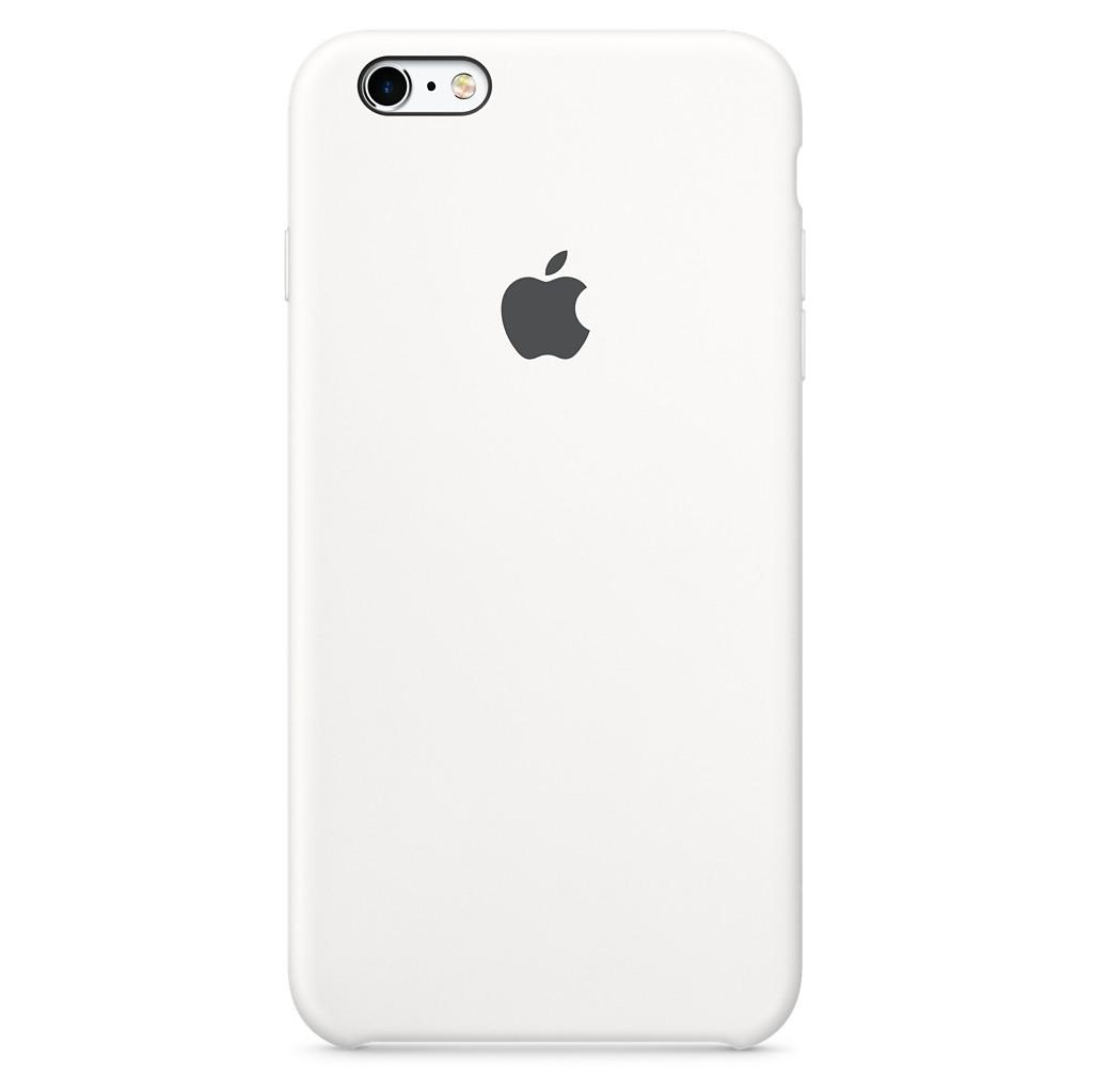 Apple Silikon Case iPhone Case Geschikt voor model (GSM's): Apple iPhone 6S, Apple iPhone 6 Wit