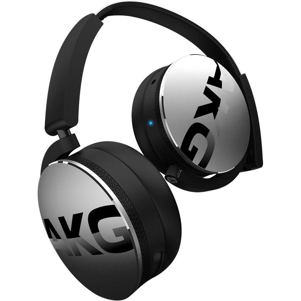 AKG Harman Bluetooth HiFi Koptelefoon, On Ear, Vouwbaar, Headset, Zilver