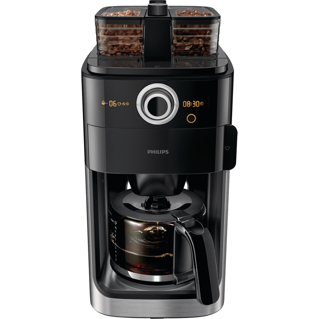 Philips Grind & Brew HD7766/00 in Hoek