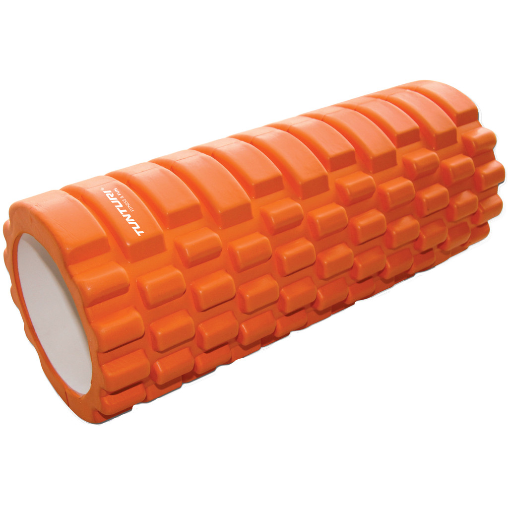 Tunturi Yoga Foam Grid Roller 33 cm Orange in Buggenhout