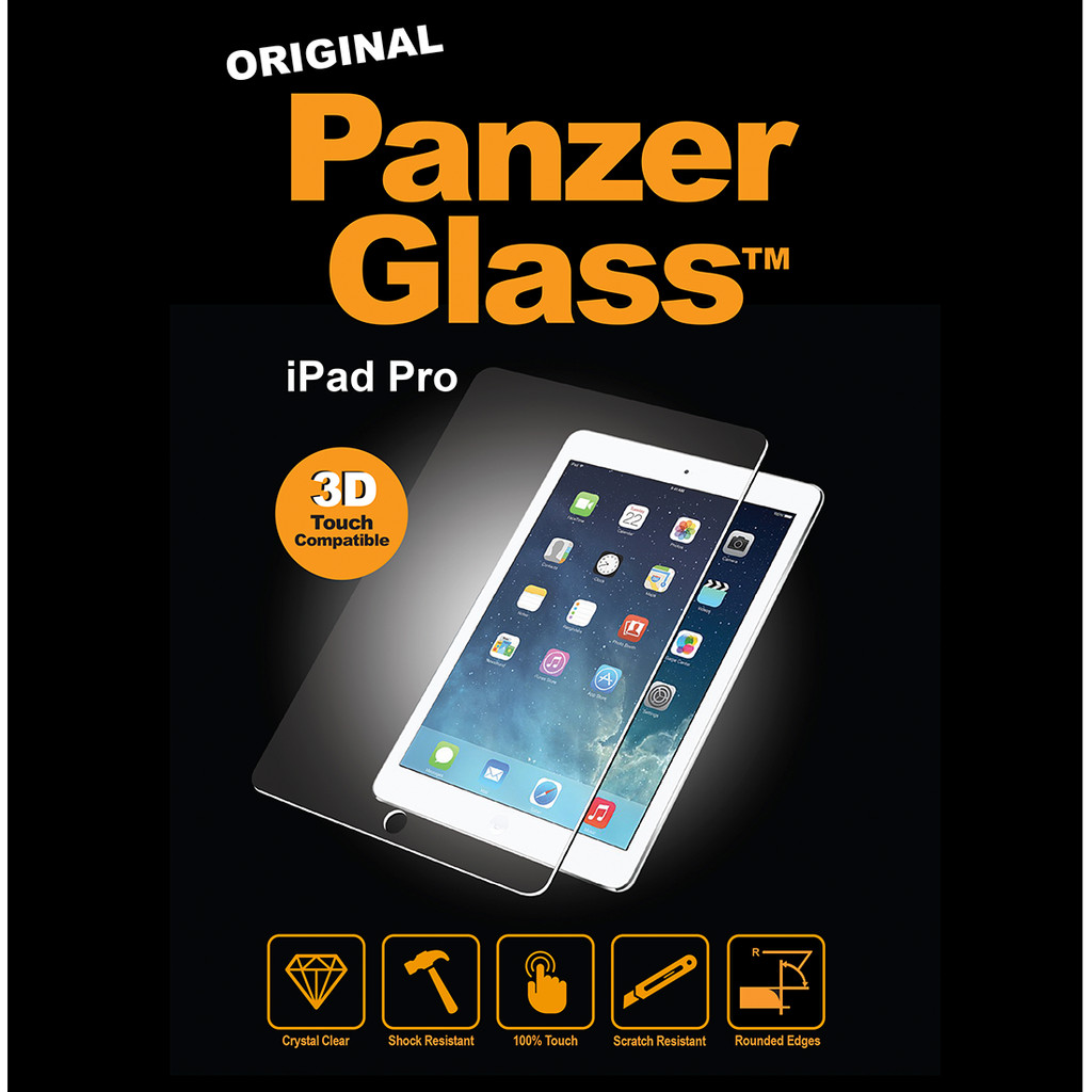 PanzerGlass Screenprotector Apple iPad Pro 12.9 inch in Ureterpervallaat / Oerterp Fallaat