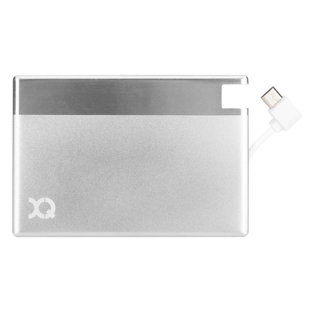 Xqisit Ultra Slim Powerbank 1350 mAh Micro USB Zilver kopen