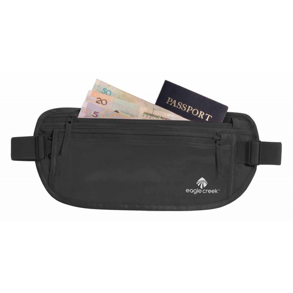 Eagle Creek Silk Undercover Money Belt Black in Wolferen