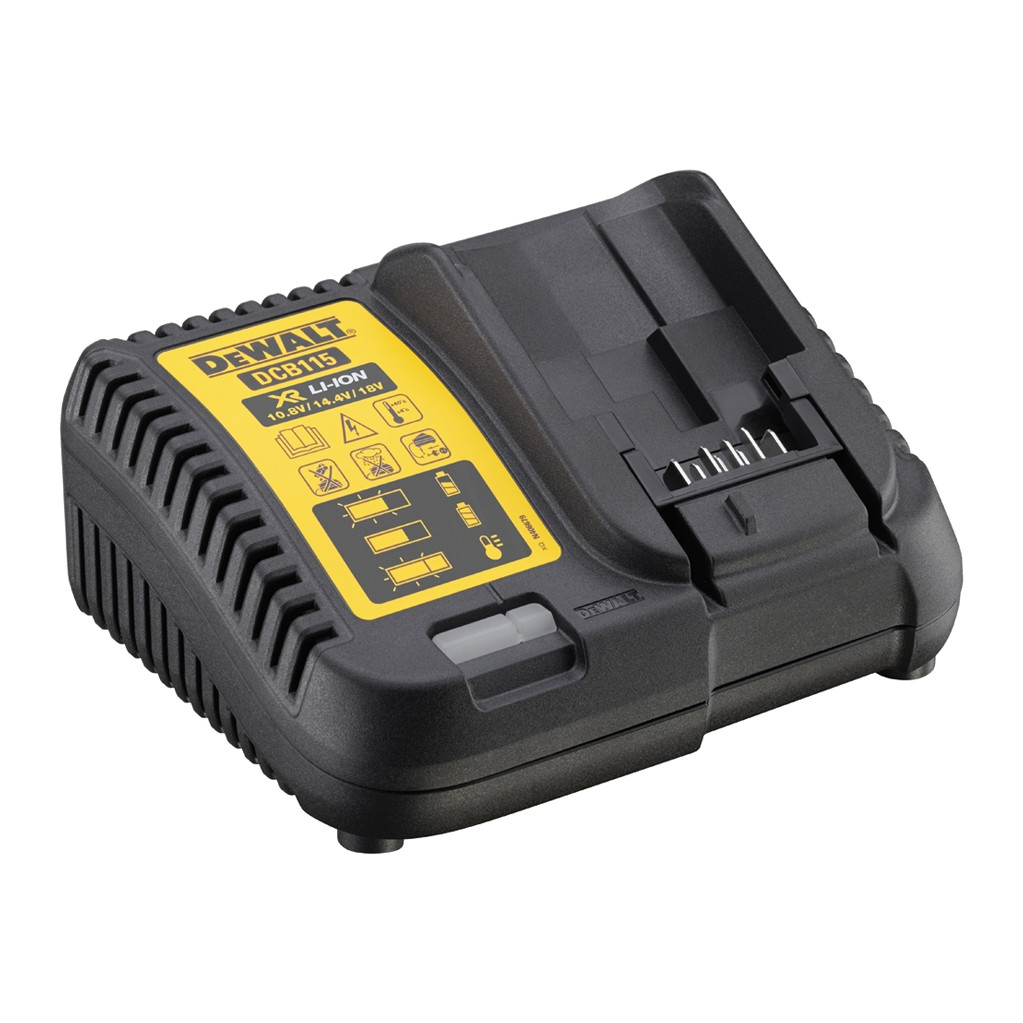 DeWalt XR Li-Ion Acculader 10,8V/14,4V/18V DCB115 in Sint-Denijs