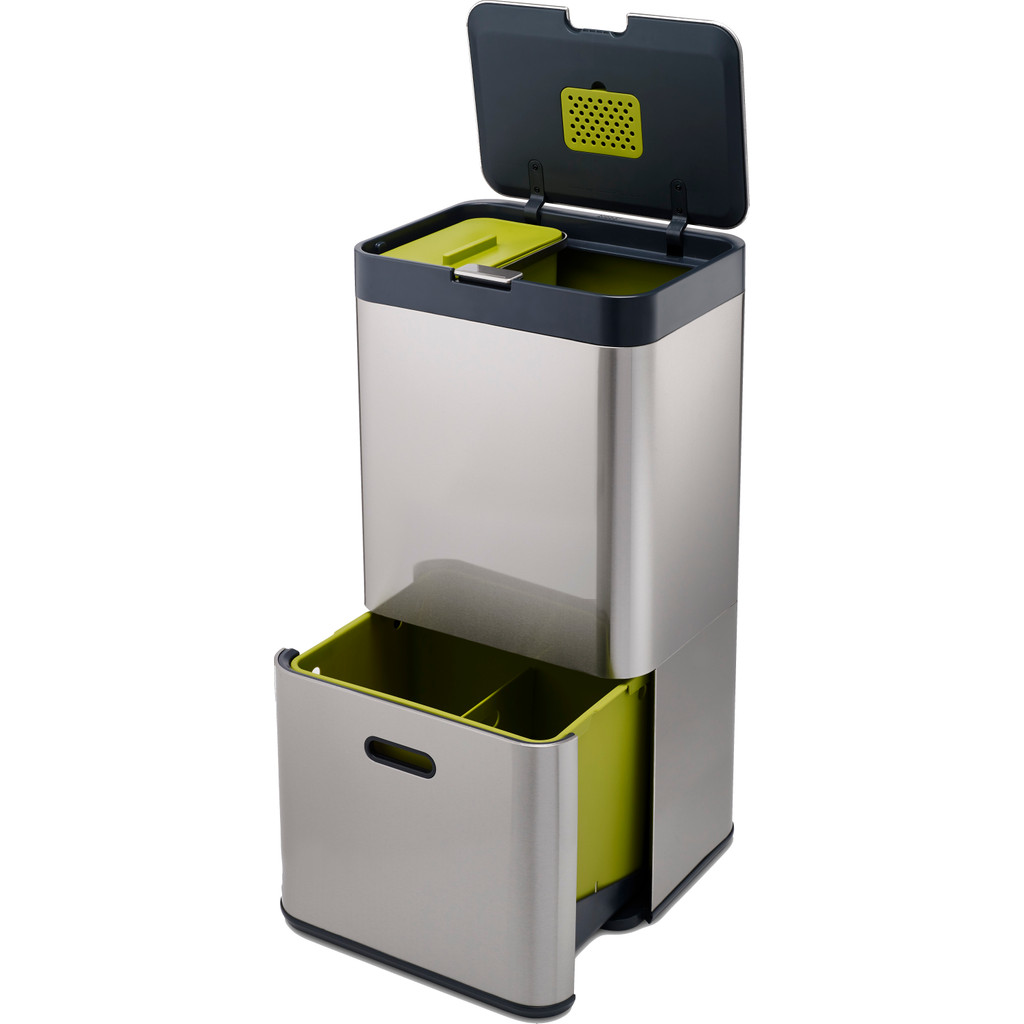 Joseph Joseph Intelligent Waste Totem 60 Liter RVS in Lamperen