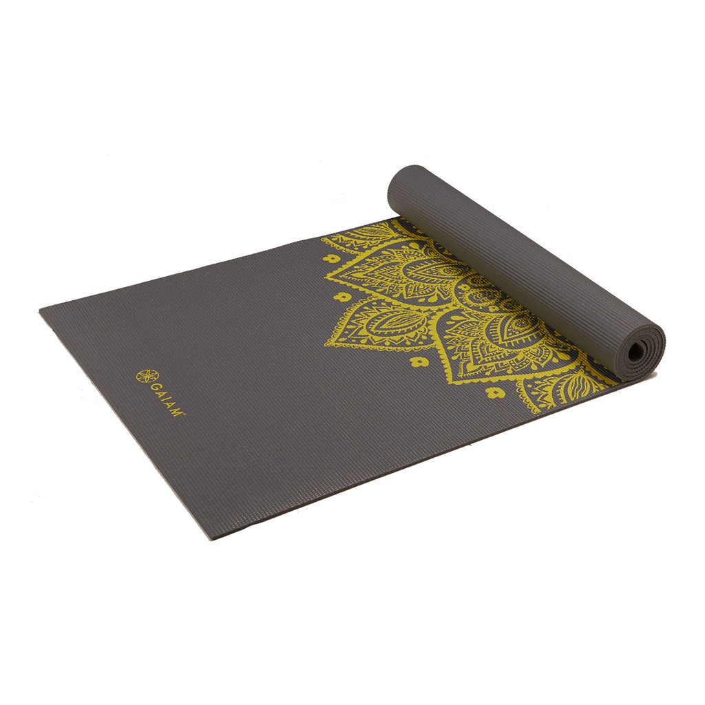 Gaiam Citron Sundial Yoga Mat 5 mm in Gever