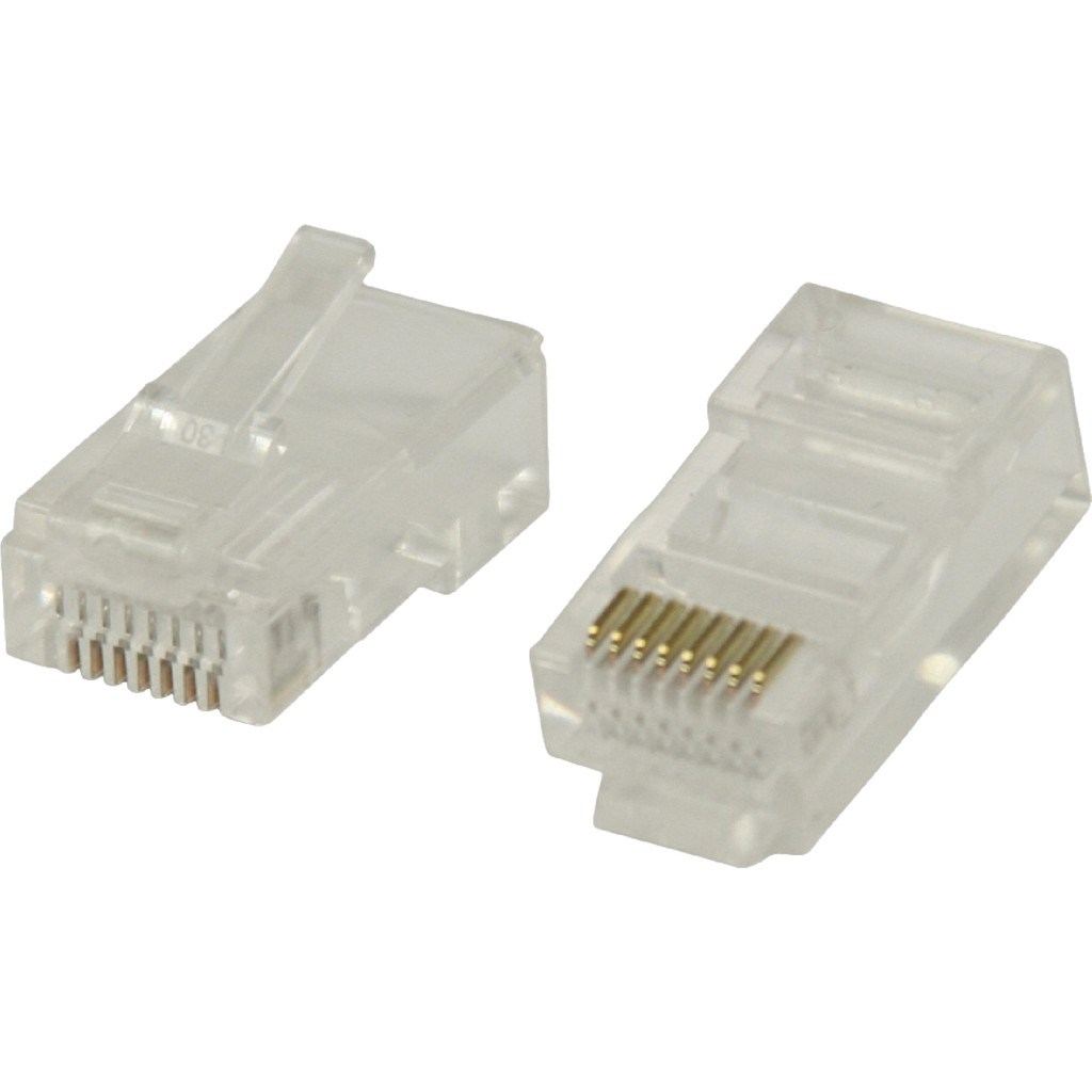 Valueline UTP CAT5 Netwerkstekker Transparant 5 stuks