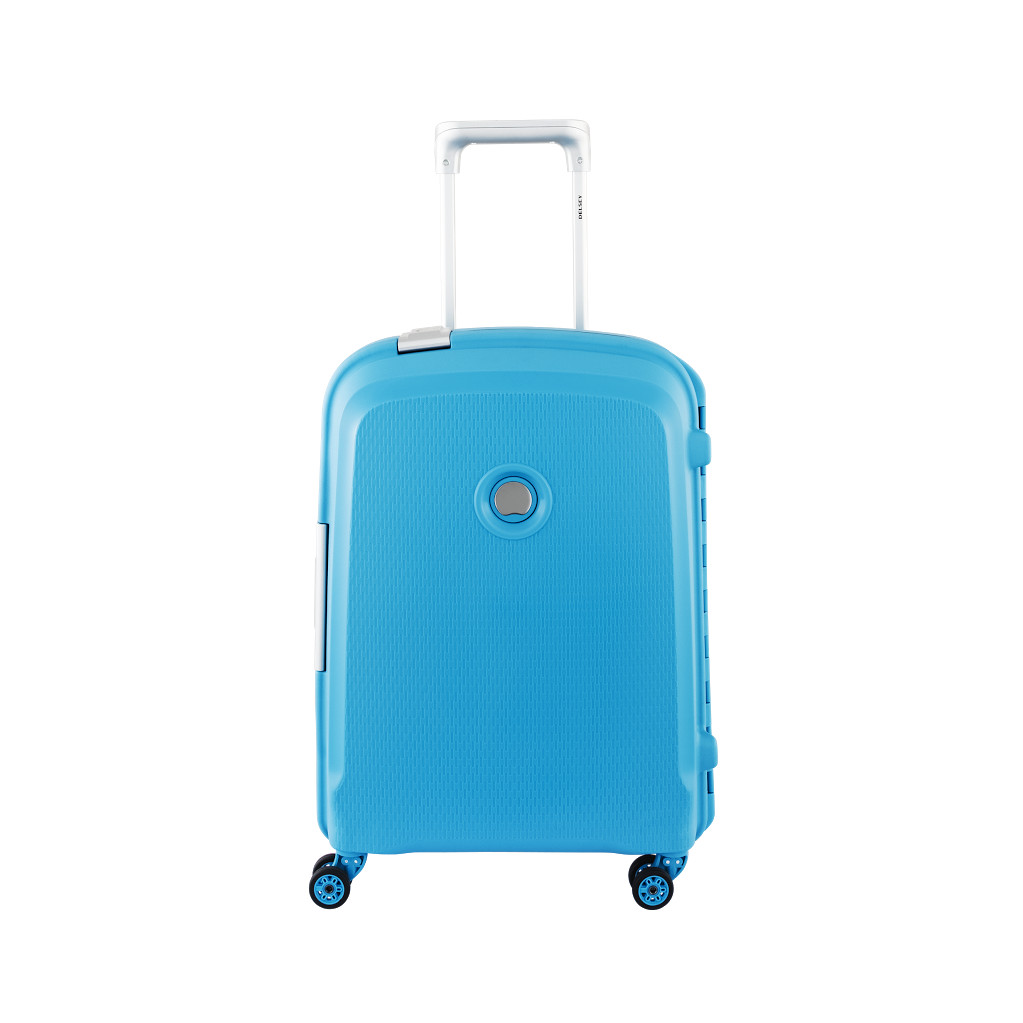 Delsey Belfort Plus Valise Spinner Cabin Trolley Slim 55 Teal Blue