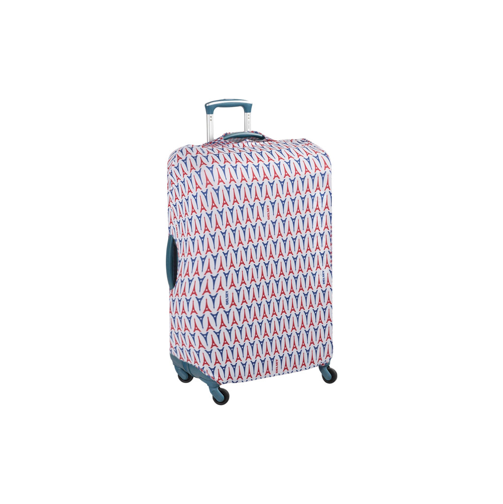 Delsey Travel Necessities Suitcase Cover S/M Blue/White/Red in Geldrop
