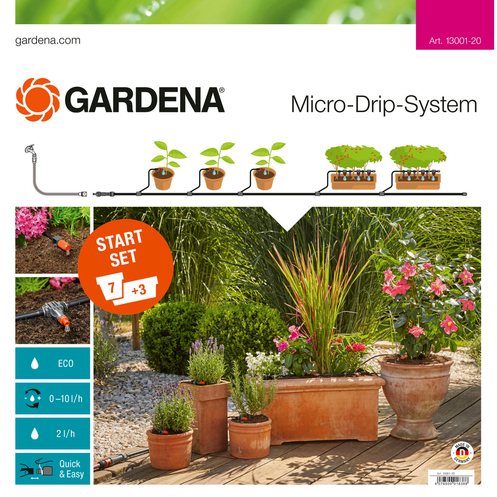 Gardena Micro Drip Start Set M Bloembakken in Broek in Waterland