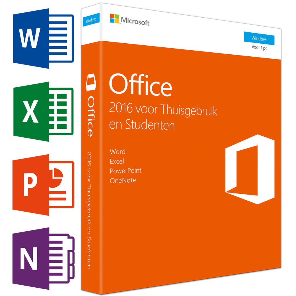 Microsoft Office 2016 Thuisgebruik en Studenten UK in Wagenberg